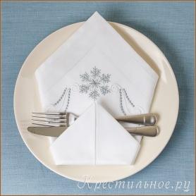 салфетка новогодняя пример сервировки