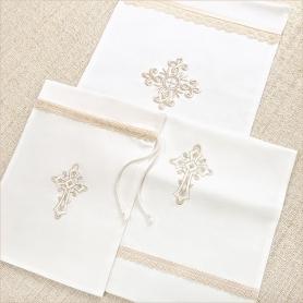 мешочки с бежевым кружевом и вышивкой в ассортименте
