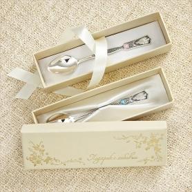 коробочка для детской серебряной ложечки в подарок на крестины