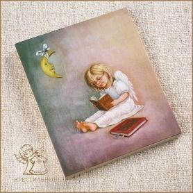 деревянное панно Ангел с книгой, Лида-студия