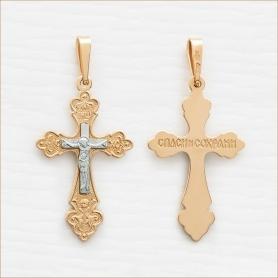 золотой крестик для взрослого арт.10371