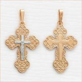 мужской золотой крест арт.10689