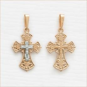 золотой крестик мужской арт.11434