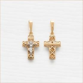 золотой крестик для мальчика арт.11822 завод Аквамарин