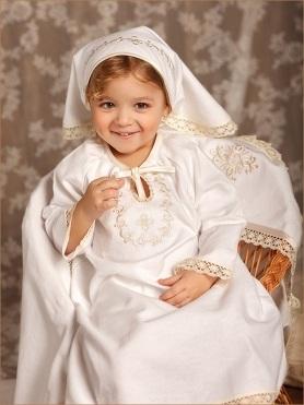 крестильный набор фланелевый: рубашка, косынка, пеленка