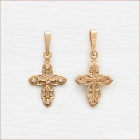 маленький крестик с фианитами арт.20125