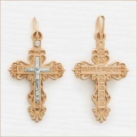 взрослый золотой крест арт.35048