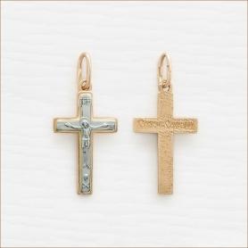золотой крестик для крещения младенца арт.35224