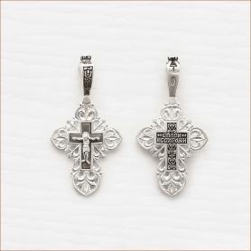 серебряный крестик елизавета 03391