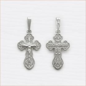 серебряный крестик для крещения арт.11003
