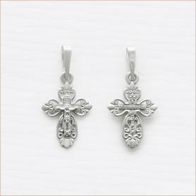 маленький серебряный крестик арт.11155