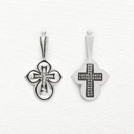 серебряный крестик с чернением арт.03027