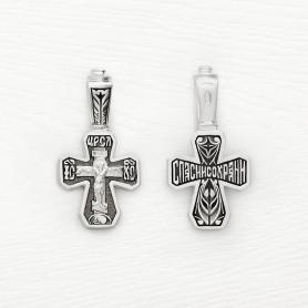 серебряный крестик с чернением арт.03414