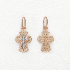 Золотой крестик Соколов для ребенка арт.121378