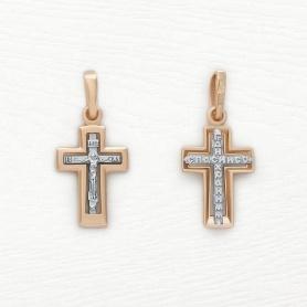 золотой детский крестики Соколов для крещения арт.121326