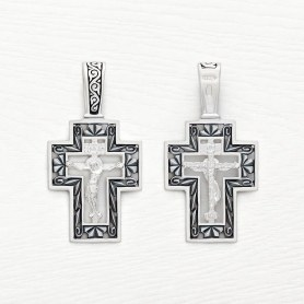 серебряный крестик с чернением арт.03550
