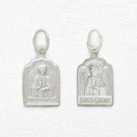 серебряный образок ангел-хранитель