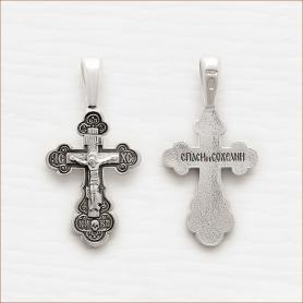 серебряный крестик арт.03453