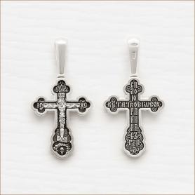 серебряный крестик с чернением арт.18166
