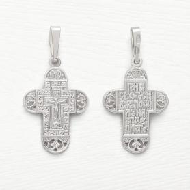 ажурный серебряный крест арт.11955