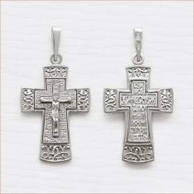 серебряный крестик мужской ажурный арт.11956