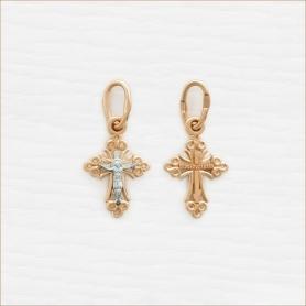 миниатюрный золотой крестик для ребенка арт.14589