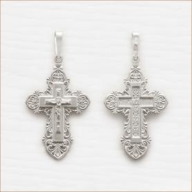 серебряный крестик ажурный арт.10056