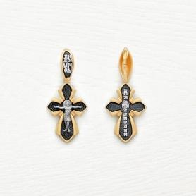 Золотой крестик с чернением арт.14688