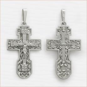 мужской серебряный крест арт.12092