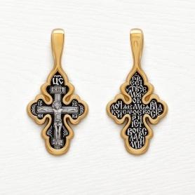 крест серебро с позолотой елизавета 08227