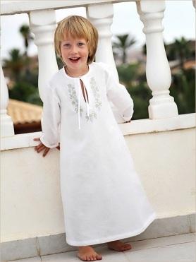 крестильная рубашка с длинным рукавом
