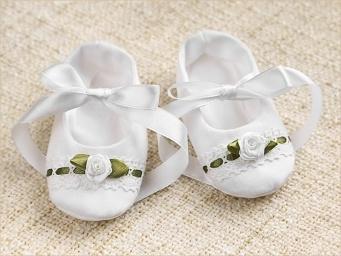 пинетки шитые для девочки с розочкой