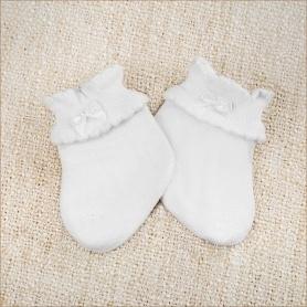 трикотажные белые носочки