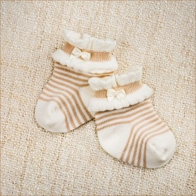 трикотажные полосатые носочки