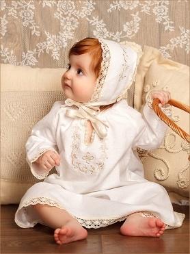 чепчик к крестильной сорочке Ульяна