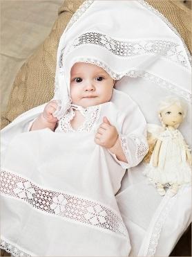 крестильный набор с полотенцем для девочки