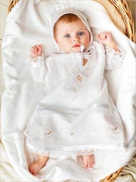 красивый крестильный набор для девочки
