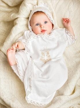 нарядная детская распашонка на крещение