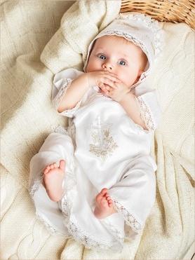 красивая распашонка для крещения