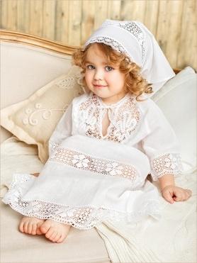 красивое платье для крещения девочки