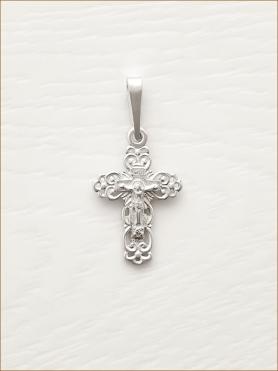 серебряный крестик арт.11006