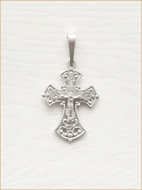 крестик серебряный арт.11434