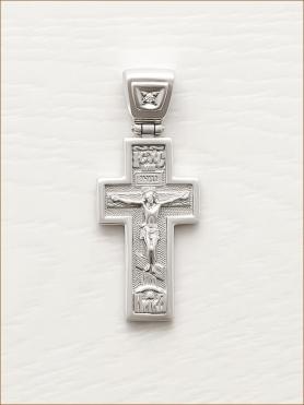 серебряный крестик арт.12544
