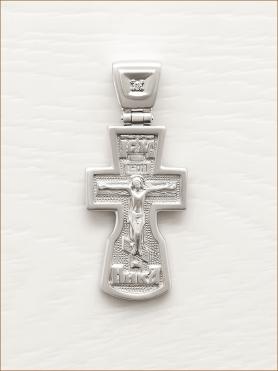 серебряный крестик арт.12545