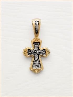 позолоченный крест арт.08105