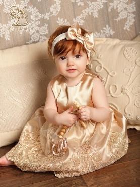 Платье Принцесса бежевое