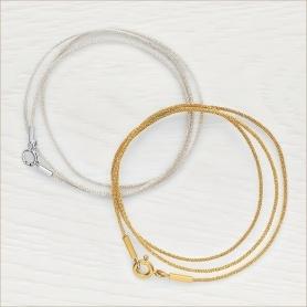 серебряный и золотой шнурки для крестика