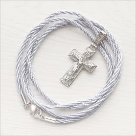 серебристый плетеный шнур 2,5 мм - для юноши или мужчины