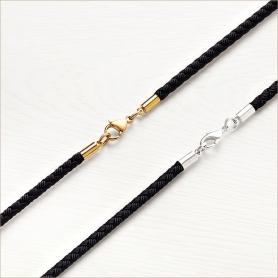 Мужской текстильный плетеный шнур с простой застежкой для ношения креста