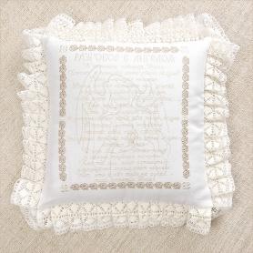 вышитая подушка с притчей об Ангеле-хранителе